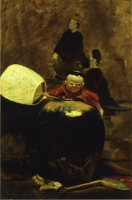 The Japanese Doll. William Merritt Chase