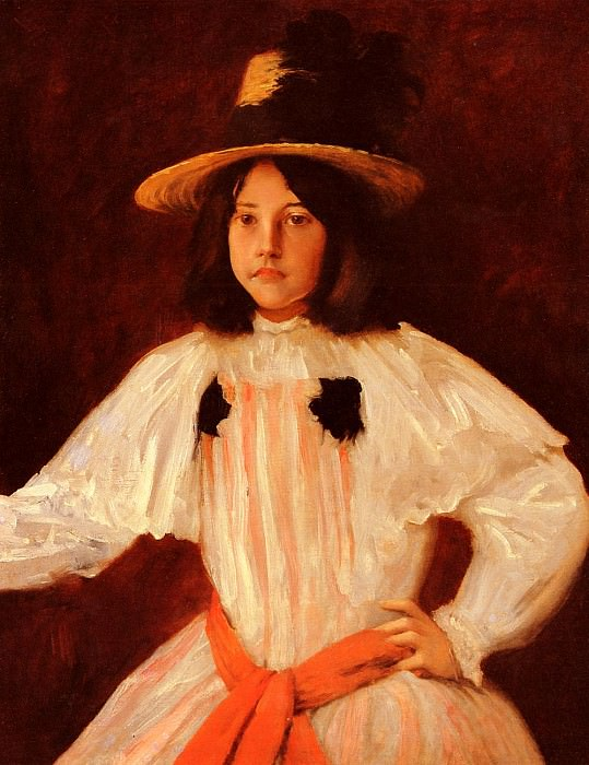 The Red Sash. William Merritt Chase