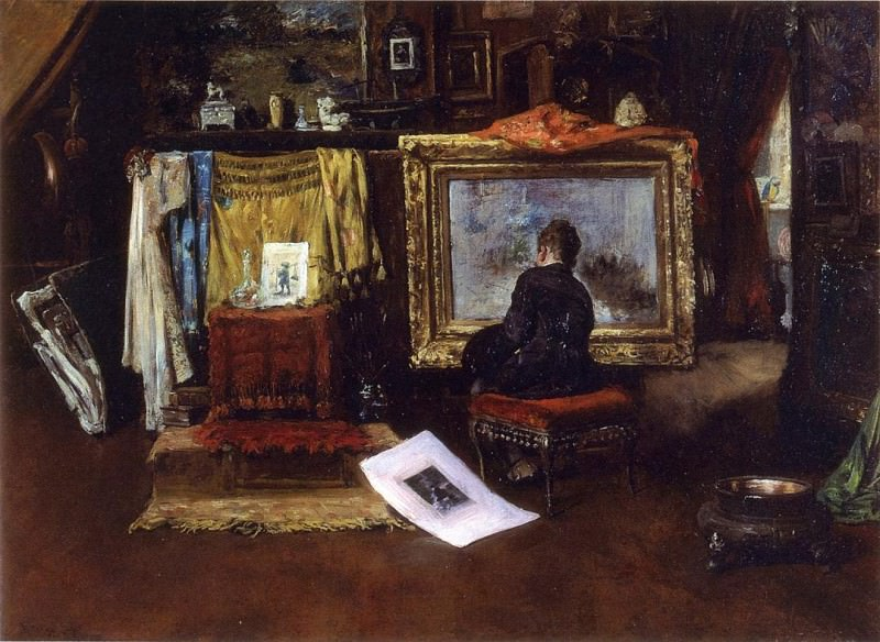 The Inner Studio Tenth Street. William Merritt Chase
