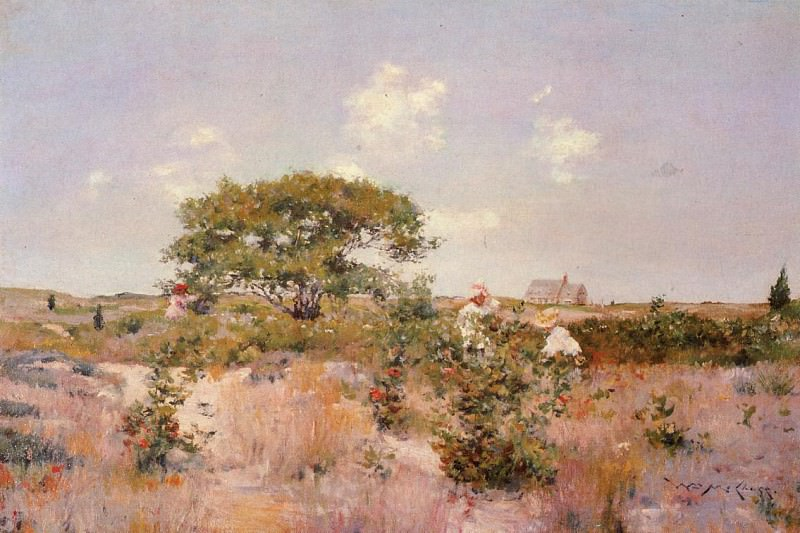 Shinnecock Landscape c1892. William Merritt Chase