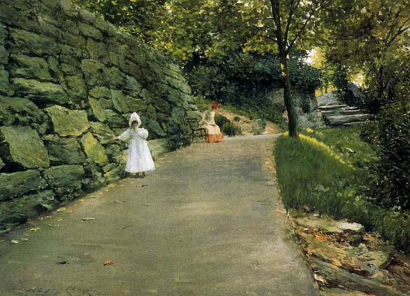 In the Park a By Path. William Merritt Chase