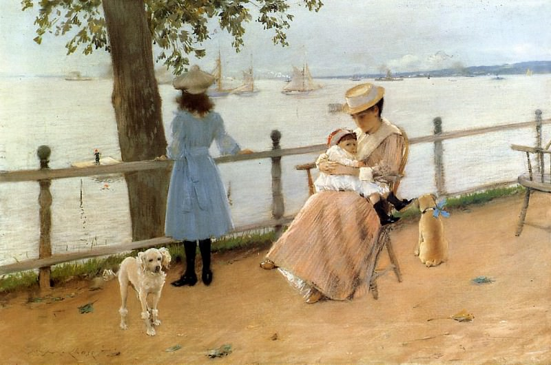 Afternoon by the Sea aka Gravesend Bay. William Merritt Chase