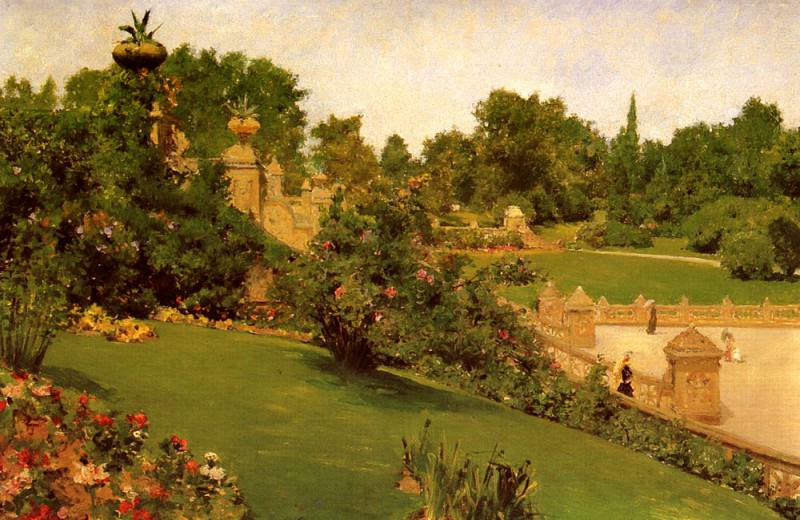 Terrace at the Mall. William Merritt Chase
