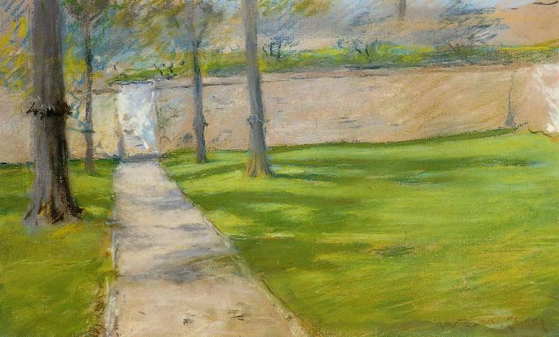 A Bit of Sunlight aka The Garden Wass. William Merritt Chase