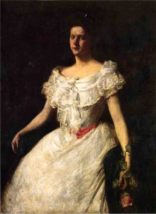 Portrait of a Lady with a Rose. William Merritt Chase