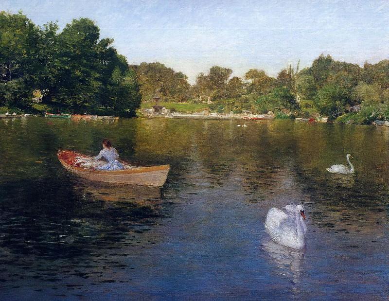 On the Lake Central Park2. William Merritt Chase