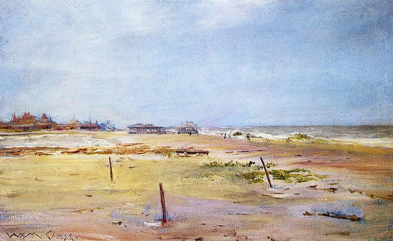 Shore Scene. William Merritt Chase