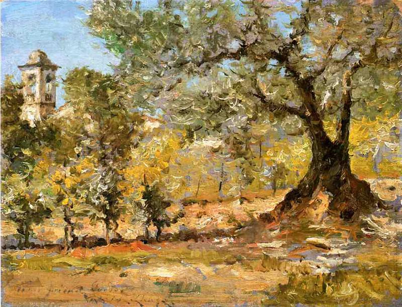 Оливковые деревья, Флоренция. Уильям Меррит Чейз