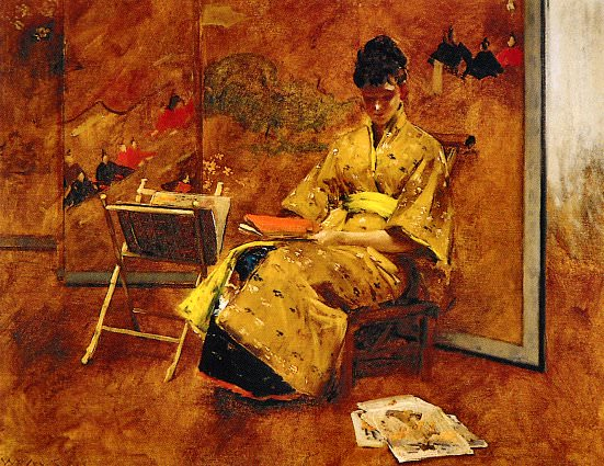 The Kimono. William Merritt Chase