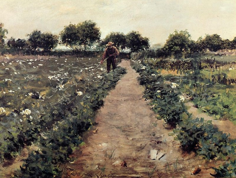The Potato Patch aka Garden Shinnecock. William Merritt Chase