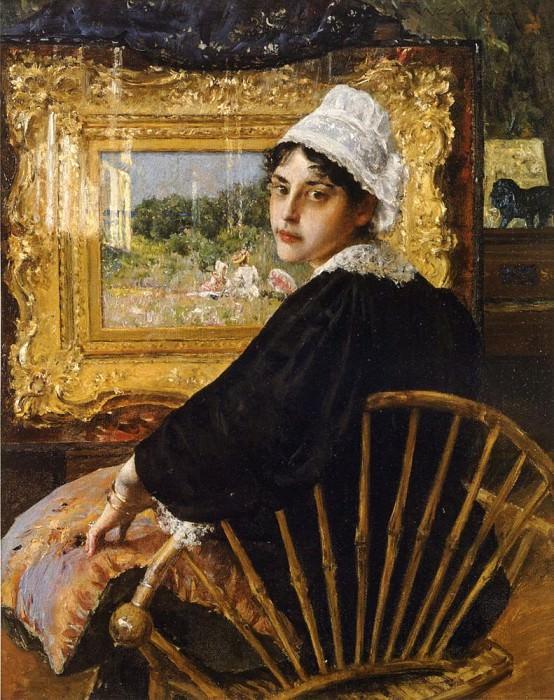 A Study aka The Artist-s Wife. William Merritt Chase