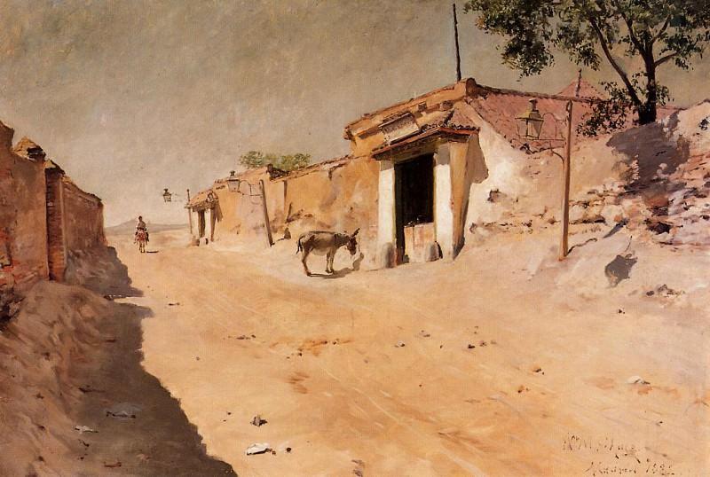 Испанская деревня. Уильям Меррит Чейз