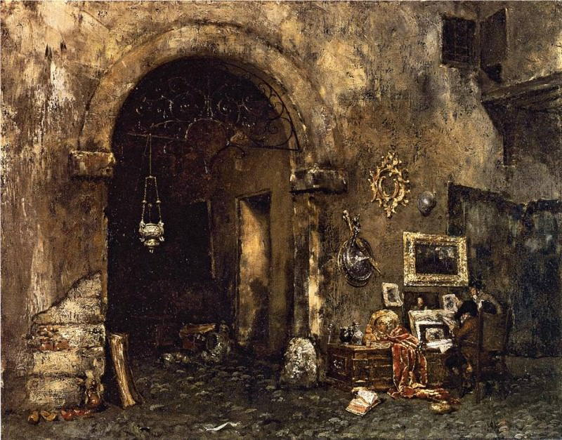 The Antiquary Shop. William Merritt Chase