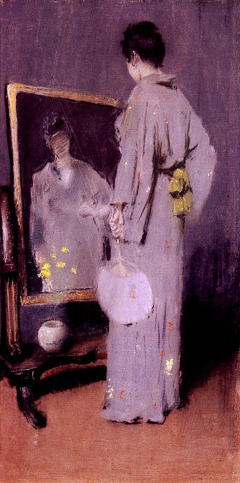 Making Her Toilet. William Merritt Chase
