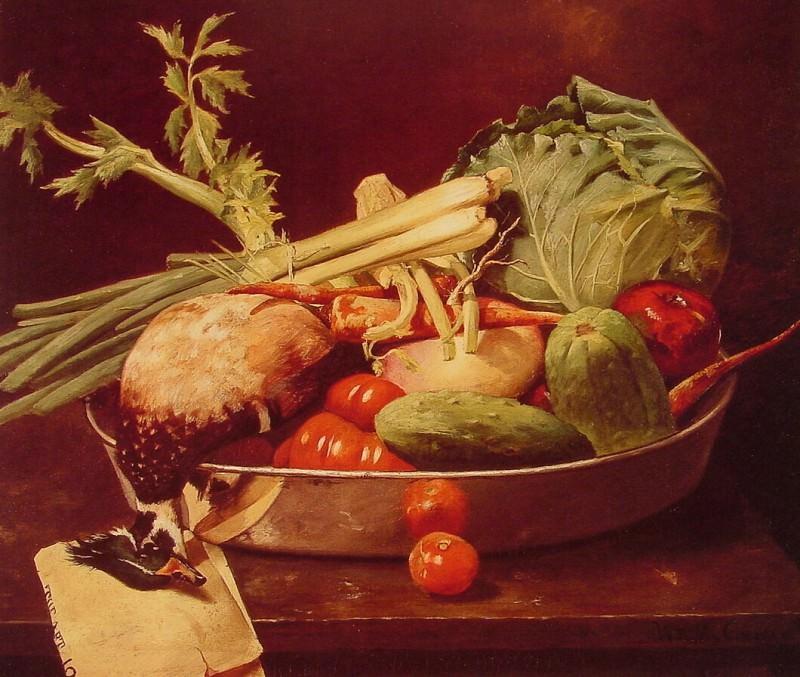 Натюрморт с овощами. Уильям Меррит Чейз