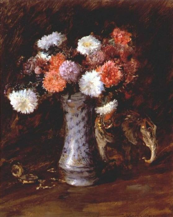 still life- flowers c1910. William Merritt Chase