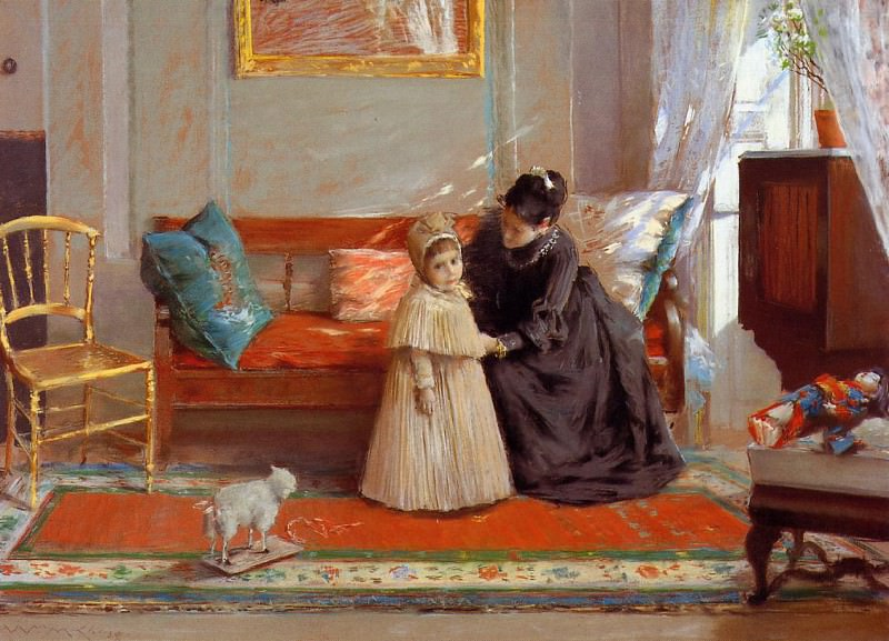 I am Going to See Grandma aka Mrs. Chase and Child. William Merritt Chase
