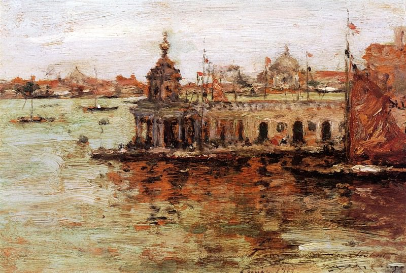 Venice View of the Navy Arsenal. William Merritt Chase