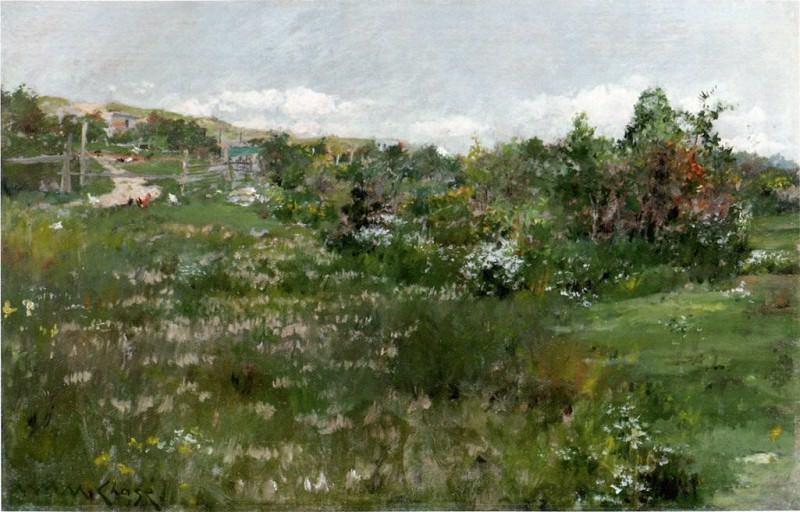 Shinnecock Landscape 26x40cm. William Merritt Chase
