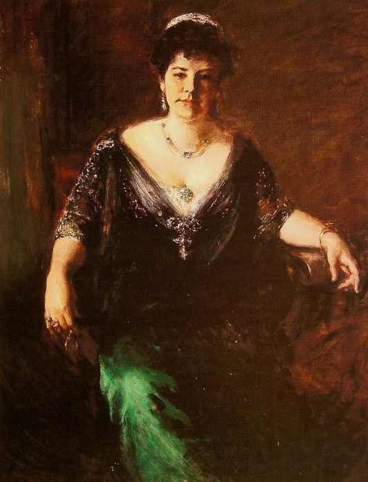 Portrait of Mrs William Merritt Chase. William Merritt Chase