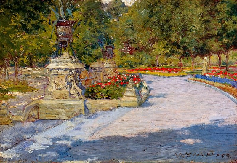 Prospect Park 1886. William Merritt Chase