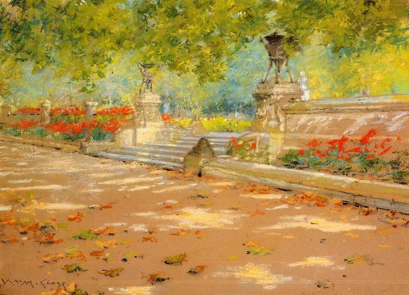 Terrace Prospect Park. William Merritt Chase