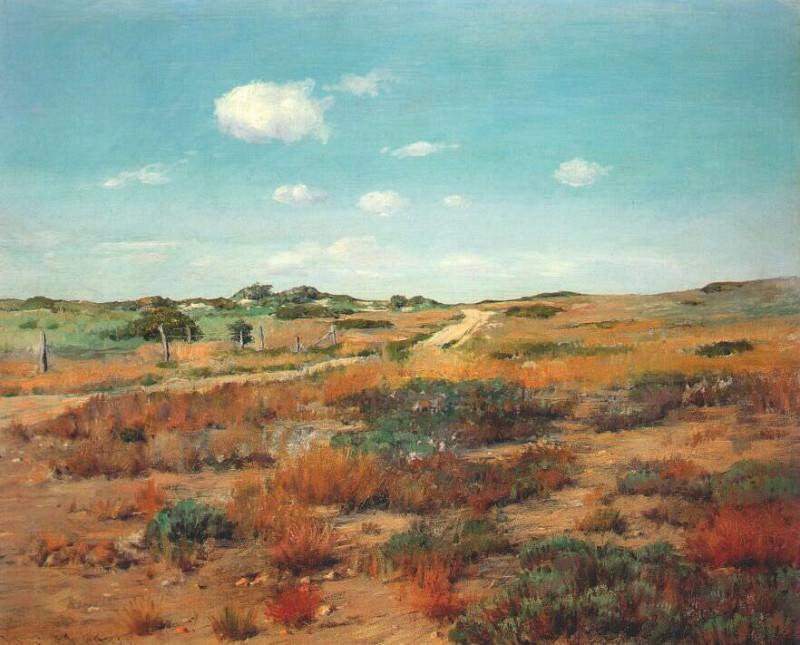 Холмы Шиннекок, ок. 1893-7. Уильям Меррит Чейз