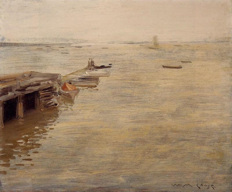 Seashore aka A Grey Day. William Merritt Chase