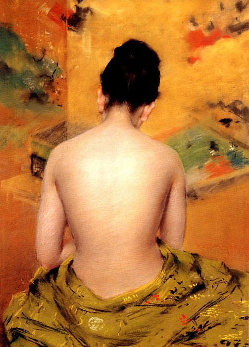 Back Of A Nude. William Merritt Chase