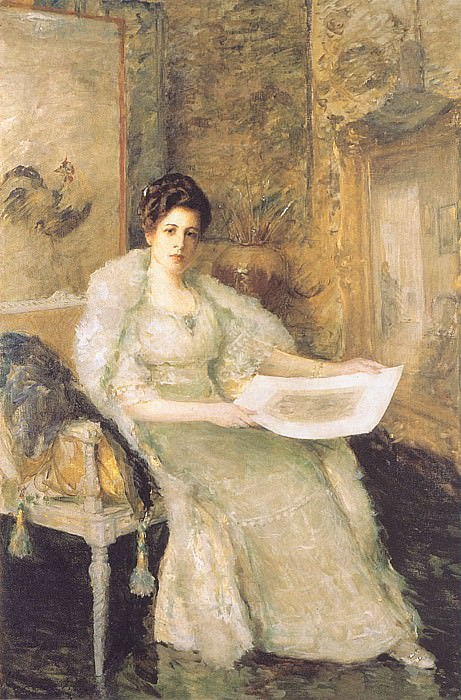Portrait of Susan Watkins. William Merritt Chase