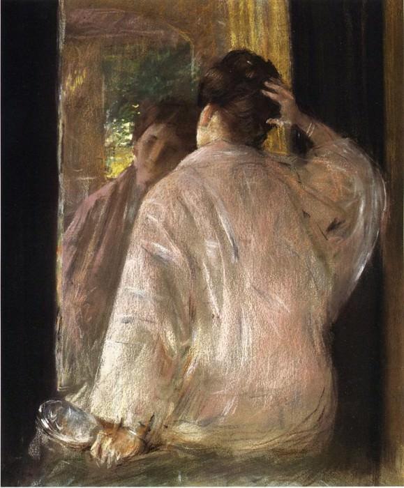 Dorothy (mirror). William Merritt Chase