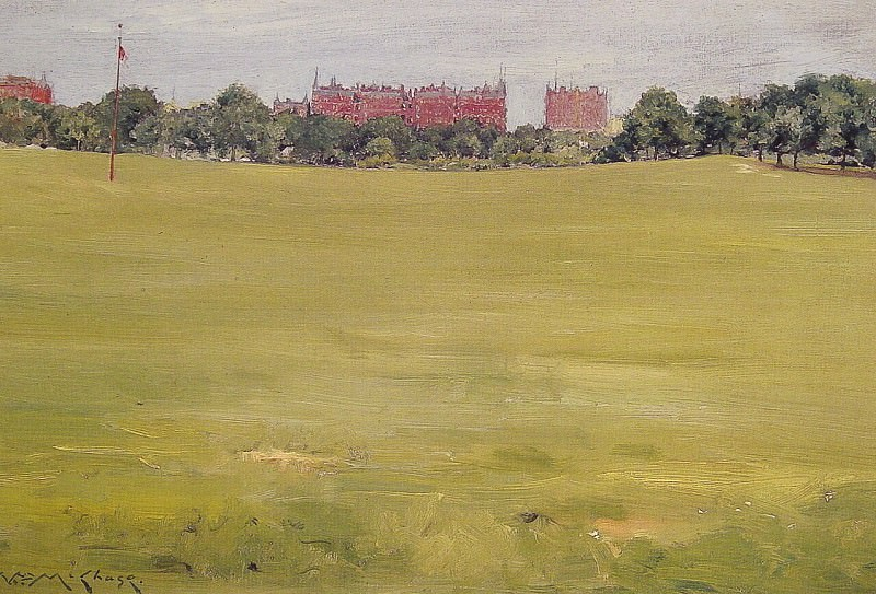 View from Central Park. William Merritt Chase