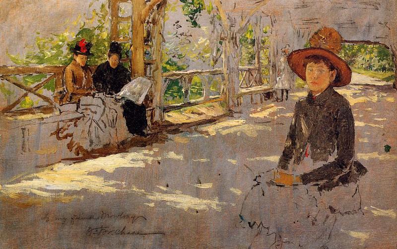 Women under Trellis (unfinished). William Merritt Chase