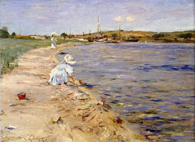 Beach Scene Morning at Canoe Place. William Merritt Chase