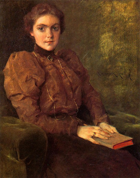 A Lady in Brown. William Merritt Chase