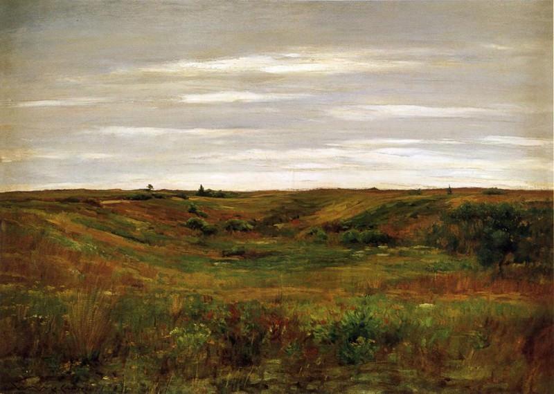 Landscape A Shinnecock Vale. William Merritt Chase
