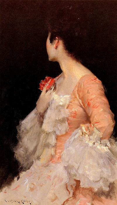 Portrait Of A Lady. William Merritt Chase