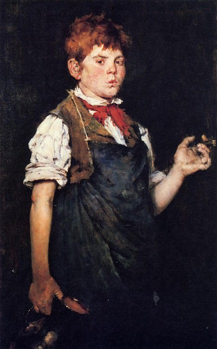 The Apprentice aka Boy Smoking. William Merritt Chase