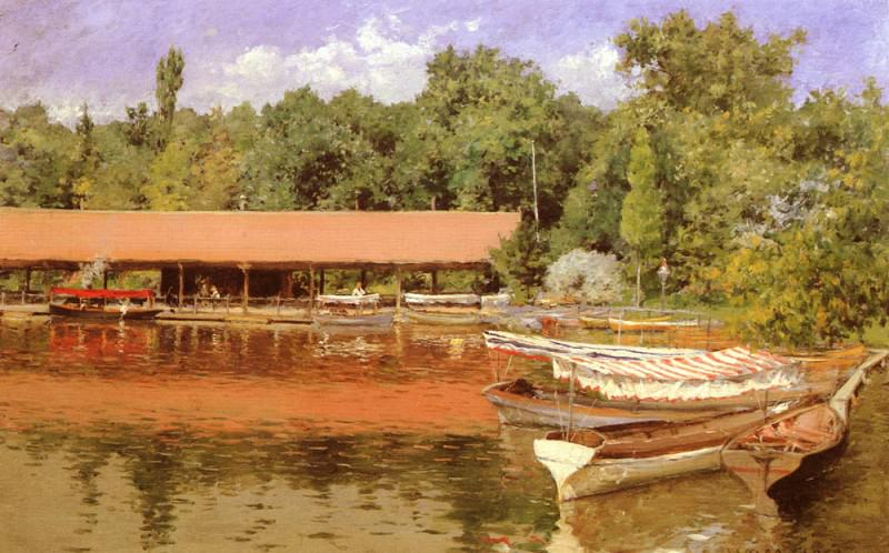 Boat House, Prospect Park. William Merritt Chase