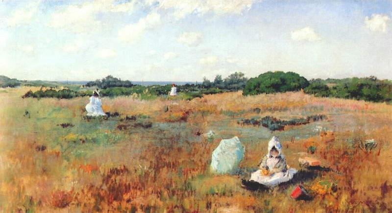 gathering autumn flowers c1894-5. William Merritt Chase