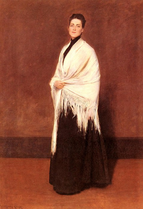Portrait Of Mrs-C-SHAWL. William Merritt Chase