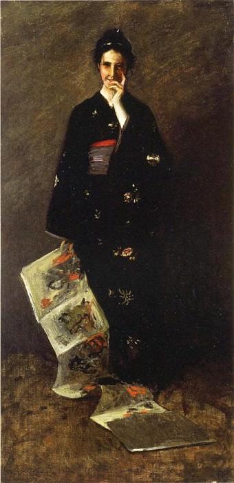 The Japanese Book. William Merritt Chase