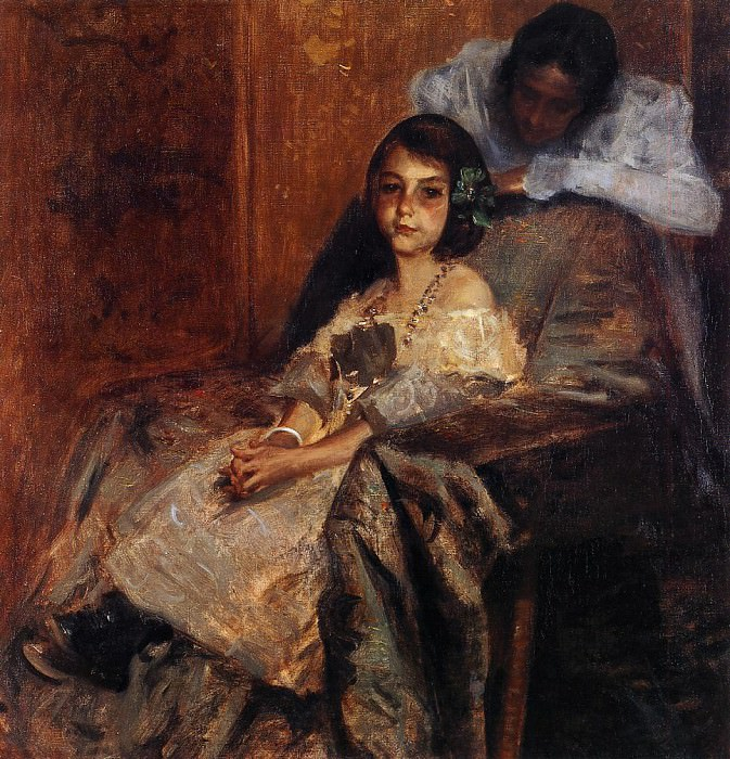 Dorothy and Her Sister. William Merritt Chase
