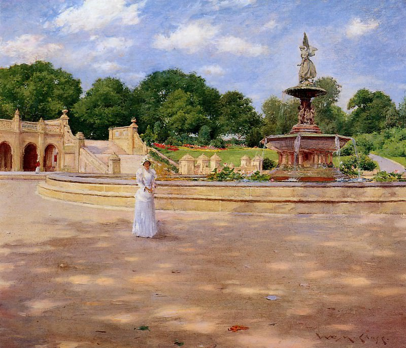 An Early Stroll in the Park. William Merritt Chase