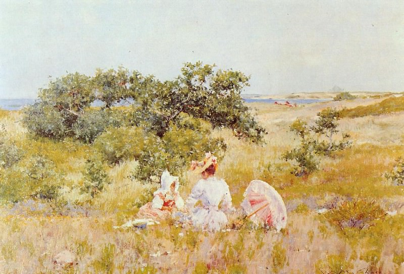 The Fairy Tale aka A Summer Day. William Merritt Chase