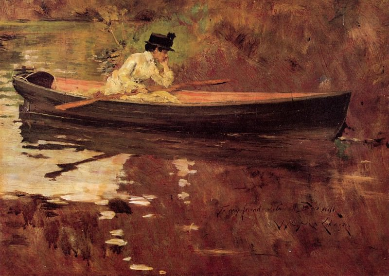 Mrs. Chase in Prospect Park. William Merritt Chase