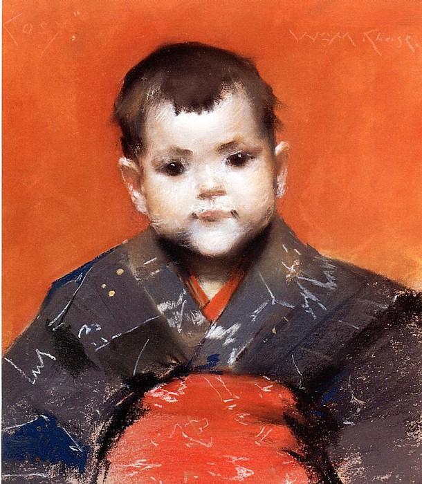 My Baby aka Cosy. William Merritt Chase