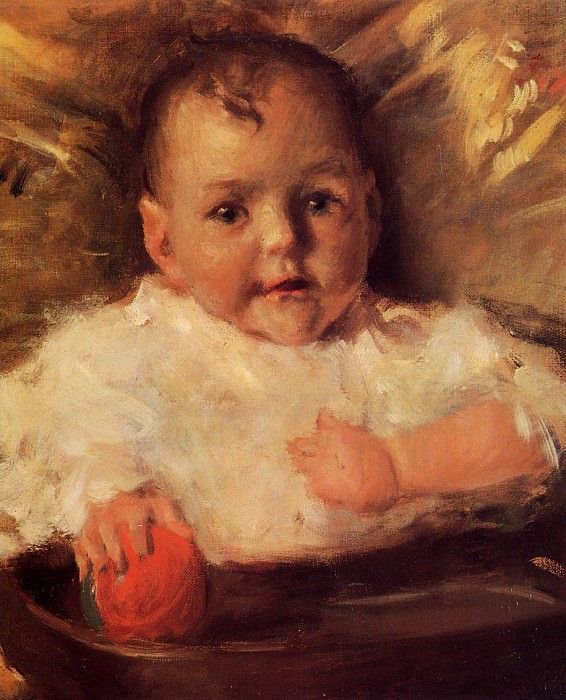 Bobbie A Portrait Sketch. William Merritt Chase