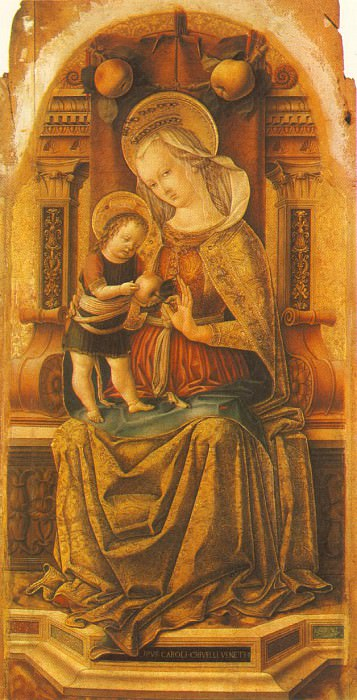 VIRGIN AND CHILD ENTHRONED, MUSEUM OF FINE ARTS, BU. Carlo Crivelli