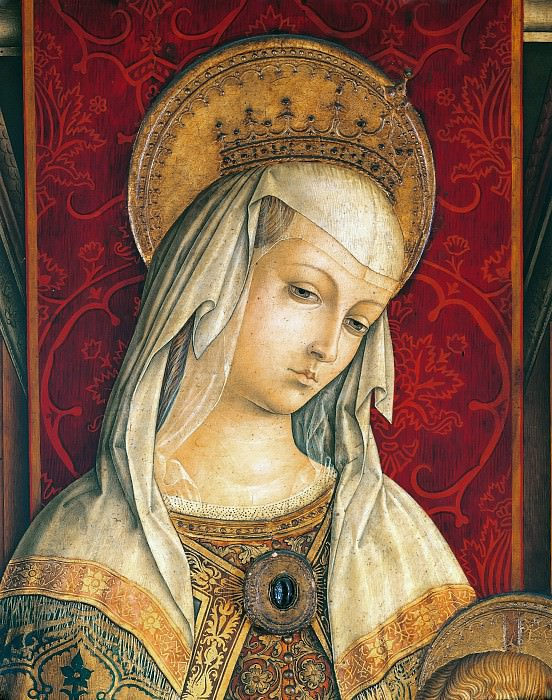 Camerino Polyptych, detail - Virgin. Carlo Crivelli